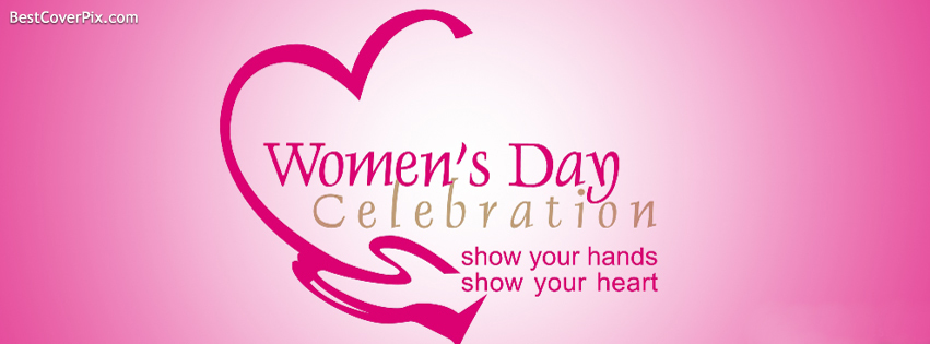 Pink Womens Day Celebrations Facebook Cover
