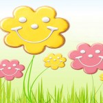 smiley flowers cover