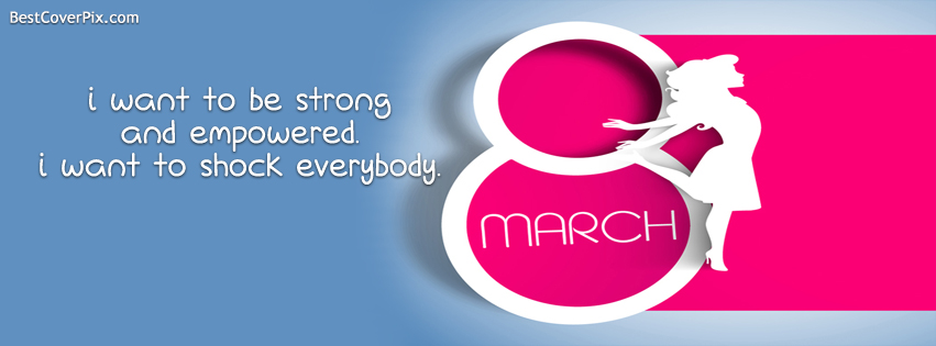 womens day quote cover photo