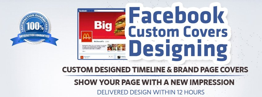 create custom Facebook cover professional