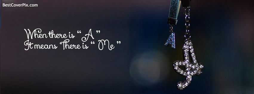 """Alphabet """" A """" Facebook diamante Cover Photo"""
