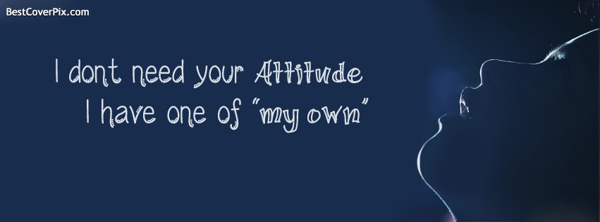 attitude fb cover photo