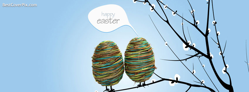 sweet happy easter day fb cover