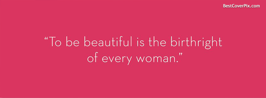 beautiful women quotes fb cover photo