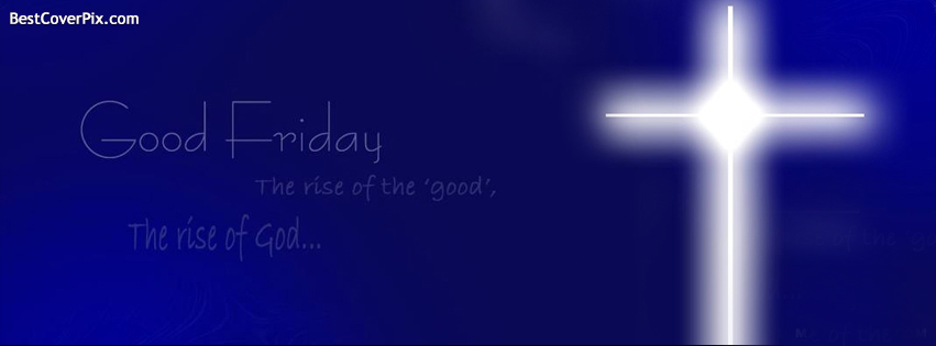 Good Friday Blue Cross FB Cover Photo