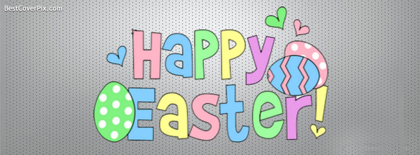 Colorful Happy Easter 2014 Facebook Cover Photo