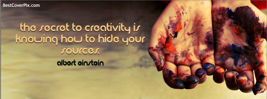 Creativity Quotes by Albert Einstein Facebook Profile Cover Photo