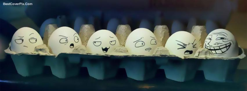Funny Emotions on Eggs – Best Arts Facebook Timeline Covers