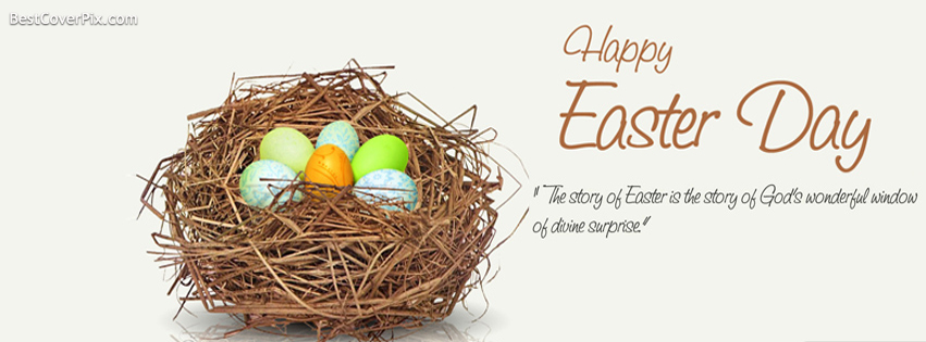 Happy Easter Eggs FB Cover Photos and Wallpapers 2014