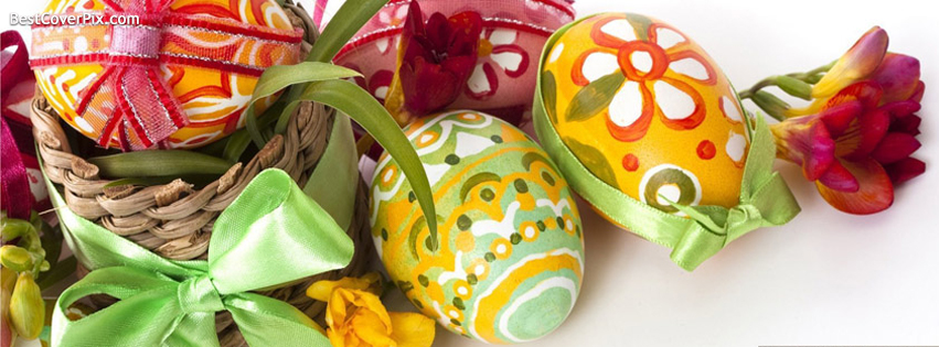 Colorful Eggs for Easter 2014 FB Profile Cover Photos