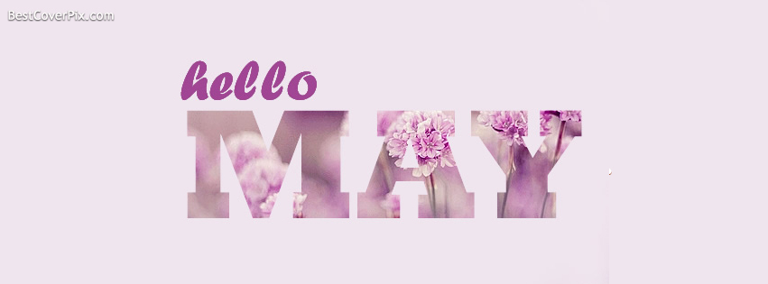 Simple Facebook Profile Cover for Hello May