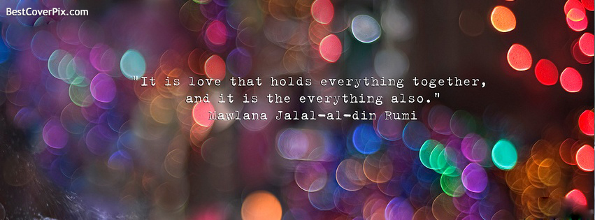 Maulana Jalal al Din Rumi Quote Facebook Profile Cover Photo