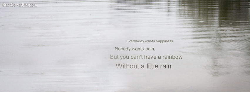 Rain Quote Facebook Cover Photo for Timeline