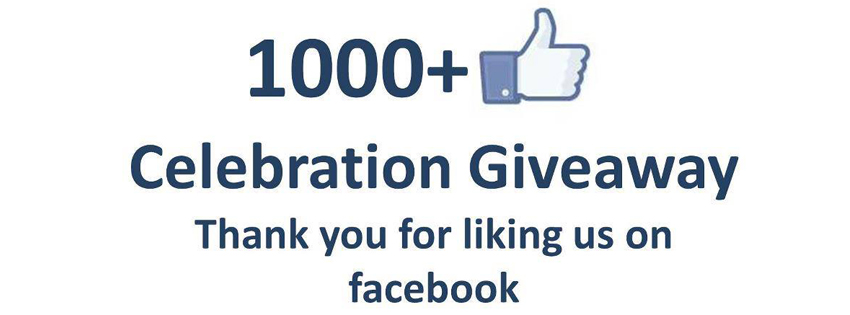 1000+ Likes on Facebook – Celebration Giveaway & Thanking to Fans Covers