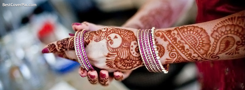 Henna Mehndi On Facebook : Wedding facebook covers beautiful hands with henna mehndi