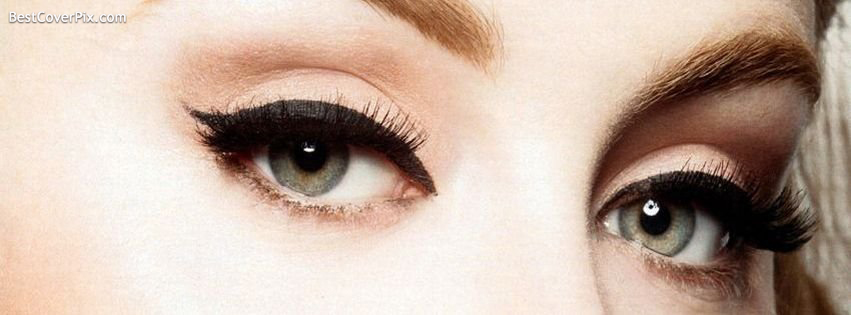 Beautiful Girls Eyes on Facebook Cover – Eye Lenses