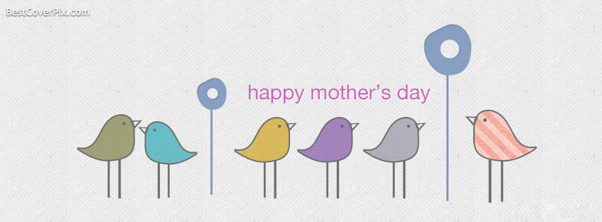 Cute Happy Mothers Day Facebook Timeline Cover Photo