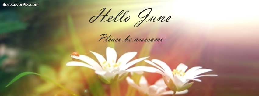 Hello June please be Awesome to me – Monthly Facebook Profile Cover Photo