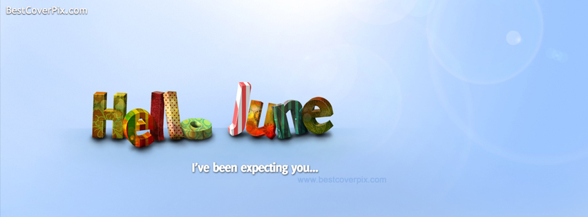 Hello June- Facebook Cover Photo