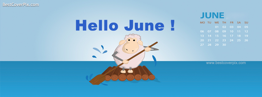 Welcome June Facebook Cover Photo
