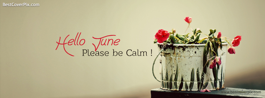 Hello June ! Please be Calm – Facebook Timeline Cover Photo