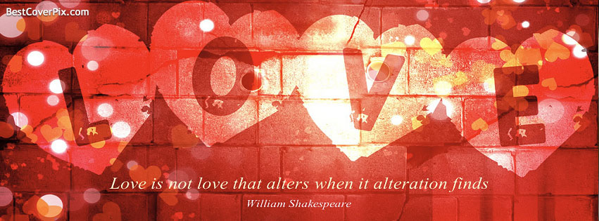 Love Hearts Quotes Timeline Covers for Facebook / Twilight / Twitter