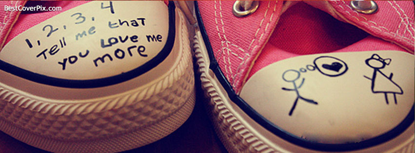 Joggers – Love Words on Jogger Shoes Facebook Cover Photos