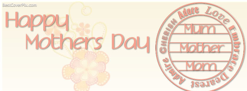 Soft Happy Mothers Day Facebook Profile Cover Photo