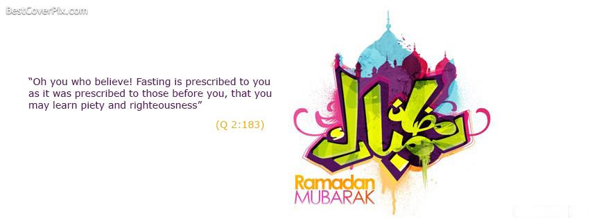 Ramadan Mubarak Facebook Timeline Profile Cover Photo