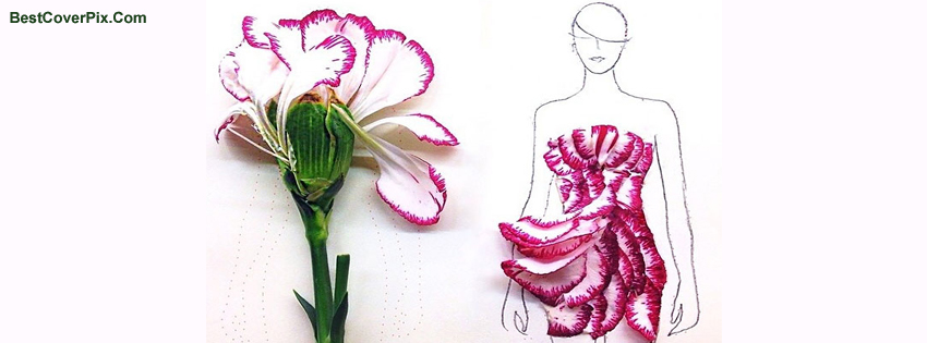 Pink Dress Summer Trends Mix with Arts of Flowers – Timeline Covers