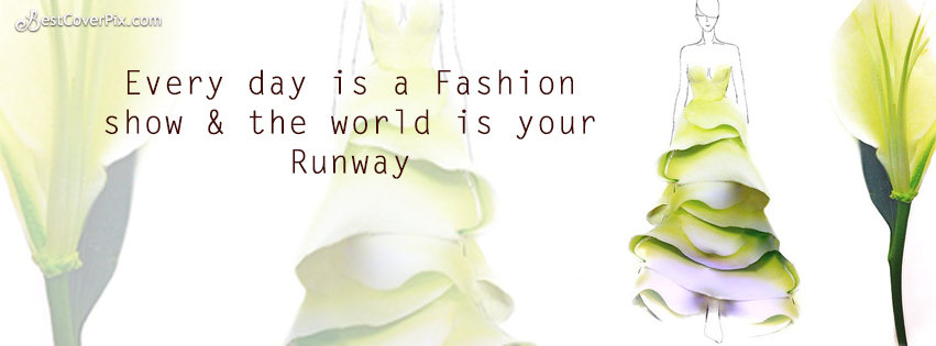 adorable fashion quote facebook cover