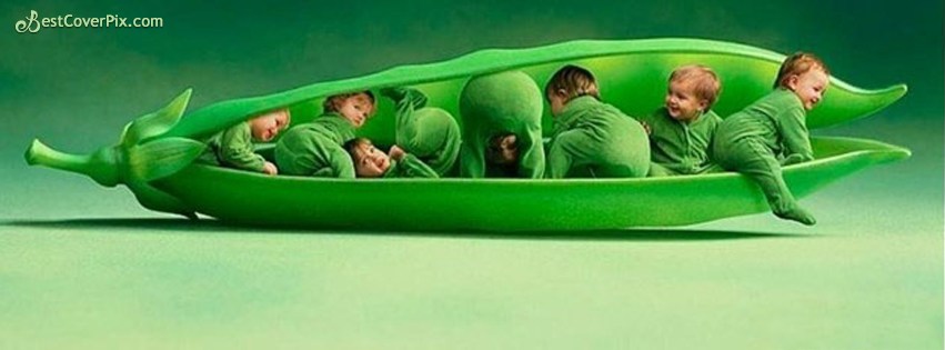 cute pea babies fb cover photo