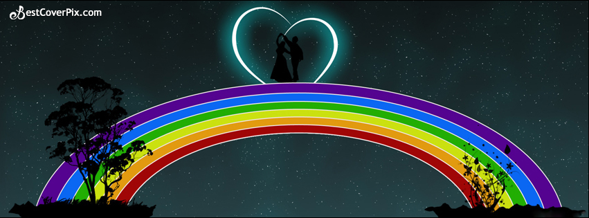 rainbow love fb cover photo