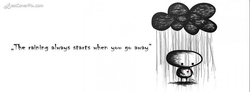 Sad and Cute Quote Facebook Profile Cover Photo