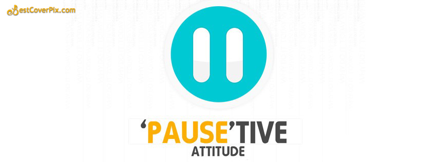 simple positive attitude facebook cover photo