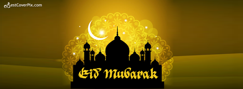 Golden EID Mubarak Cover Pictures for Facebook Timelines