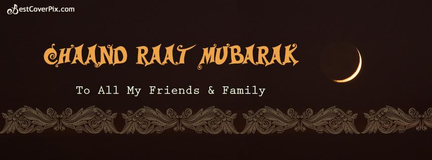 chand raat mubarak facebook cover