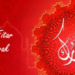 Eid cover in red 3d for facebook
