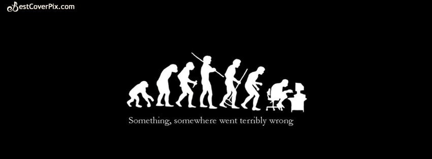 Evolution Of A Man – Black and White FB Profile Cover Photo