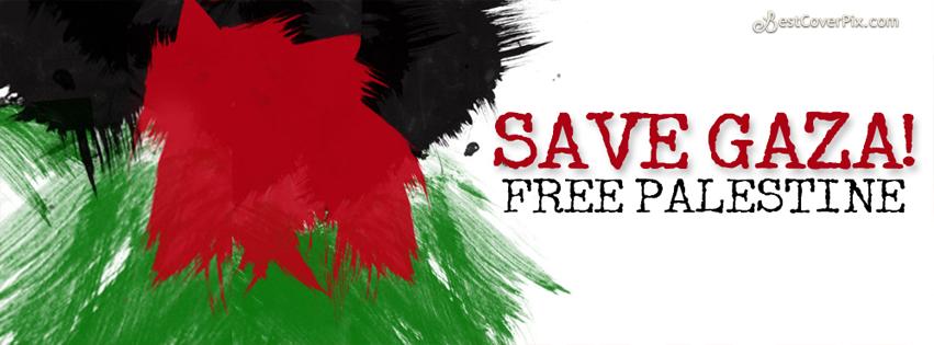 Save Gaza Free Palestine – Facebook Timeline Cover Photo