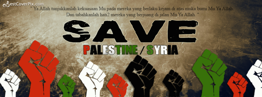 Save Palestine/Syria Facebook Cover Photo