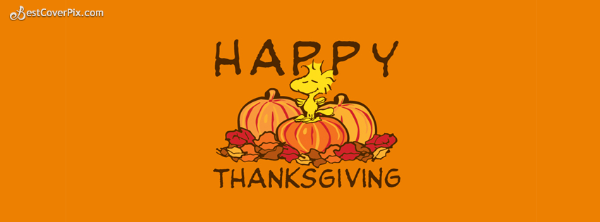 Cute Happy Thanksgiving Day FB Cover Photo