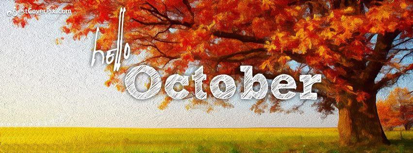 Hello October Facebook Profile Cover Photo