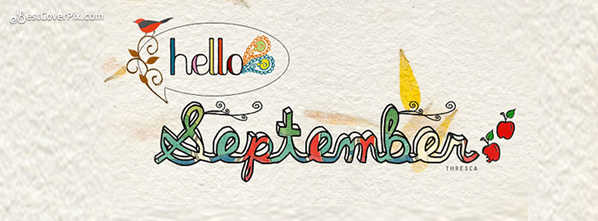Hello September Facebook Profile Cover Photo