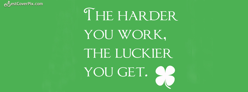 Work Hard Quotes Facebook Cover Photo