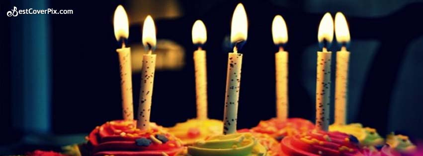 Cuppy Cake With Candles – Happy Birthday Ideas & FB Cover/Banner Pictures