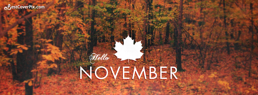 Hello November Facebook Covers for Timelines