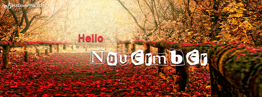 Hello November FB Cover Photos and Autumn Wallpapers