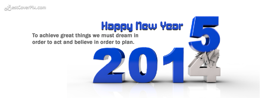 Happy New Year 2015 Wishes Top Facebook Cover Photo
