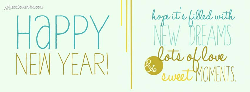 happy new year messy greeting cards facebook covers